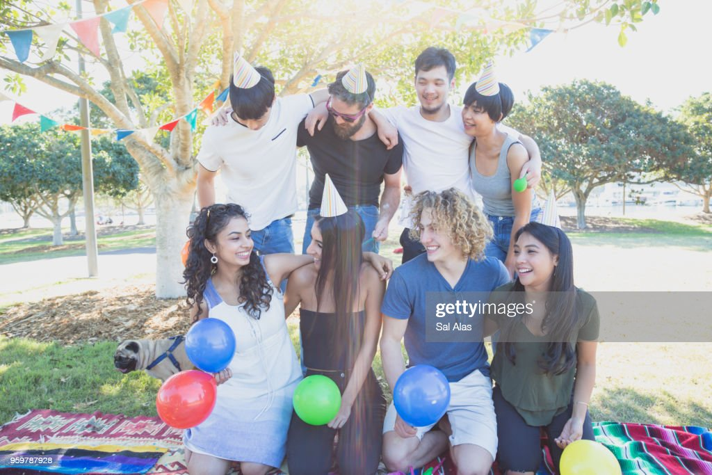 Celebration in a Sydney Park : Stock-Foto