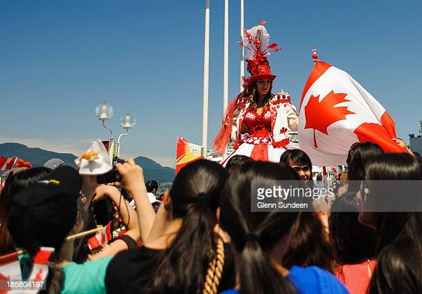 CONTENT] Celebration of Canada's birthday in downtown Vancouver British Columbia celebration festival birthday Canada Canada Day Independence woman...