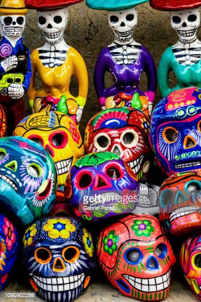 a celebration of day of the dead in oaxaca - mexican god stock pictures, royalty-free photos & images