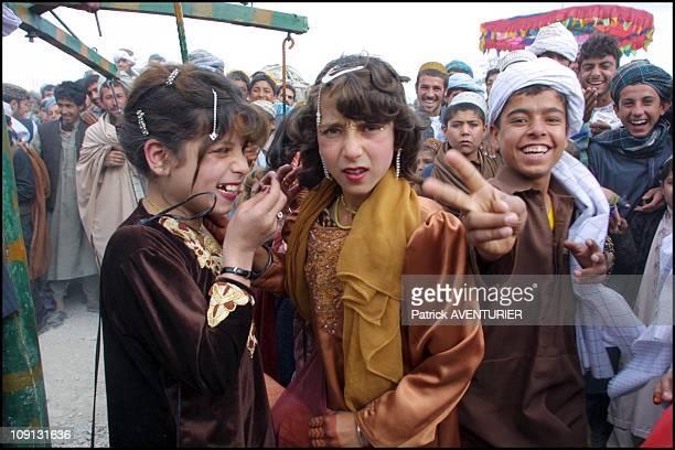 Celebration Of 'Eid AlFitr' Marking The End Of Ramadan In Kandahar On December 16Th 2001 In Kandahar Afghanistan Little Girls Are Finally Authorized...