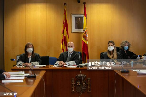 Celebration of one of the four trials held at the Court of Justice of Catalonia to appeal the ban on Vox protests on Saturday in Barcelona, ​​Girona,...