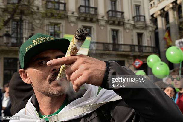 Celebration of the 20th Global Marijuana March in Madrid on 7 th May 2016