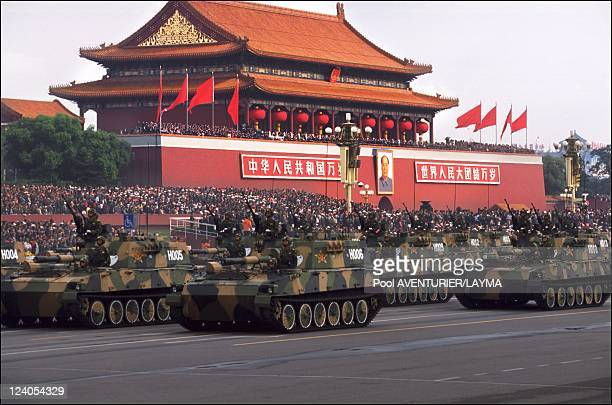 Celebration of the 50th anniversary of China the military hardware In Beijing China On October 01 1999