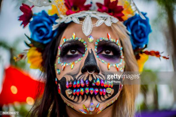 Celebration of the Days of Los Muertos brings together the entire Mexican community at the Memorial of Latin America in São Paulo on 29 October 2017...