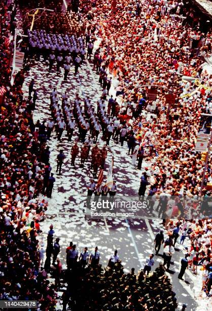Celebration of the end of the Gulf War in New York City in 1991.