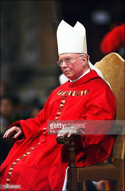 Celebration of the Passion of Christ service in Saint Pander's Basilica. US cardinal James Francis Stafford presided the ceremony in Rome, Italy on...