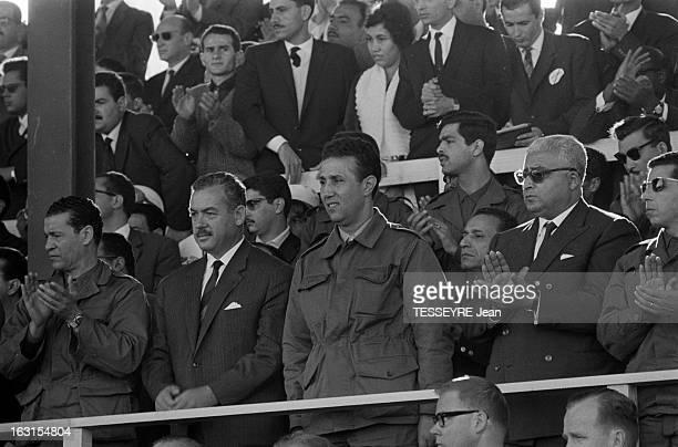 Celebration Of The Revolution In Algiers Alger le 1er novembre 1963 Avec la Fête de la Révolution Algérienne le président Ahmed BEN BELLA commémore...
