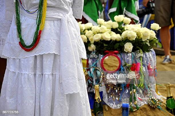 Celebration of Yemanja in Salvador Bahia Brazil