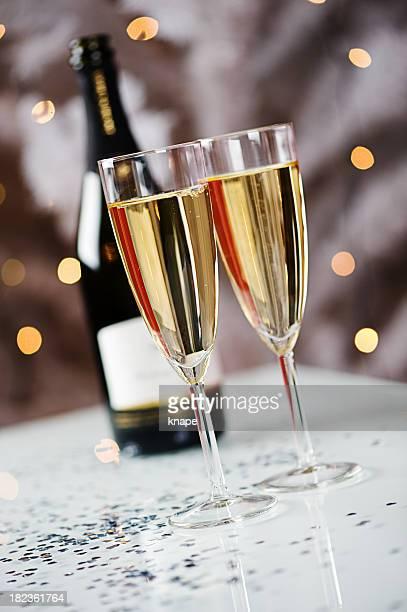 Stilleben-Champagner-Feier