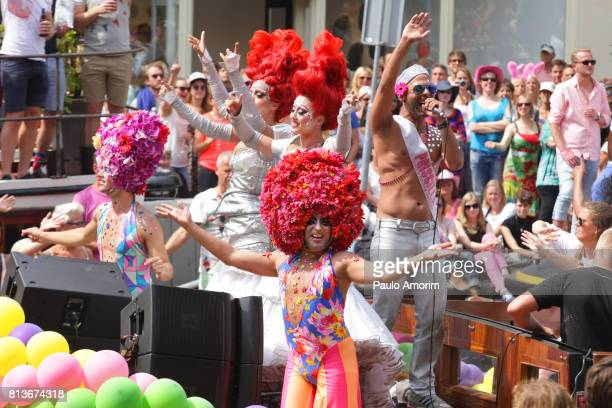 celebration the Gay Pride during Summer in Amsterdam