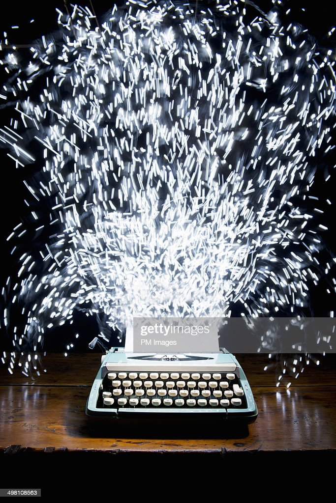 Celebration Typewriter : Stock Photo