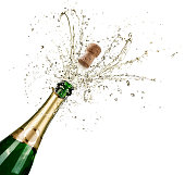 Celebration With Splashes Of Champagne