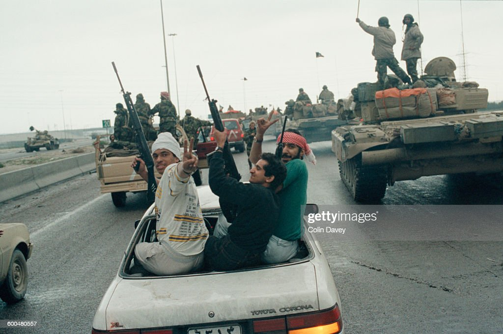 Gulf war pictures getty images celebrations after the iraqi forces were driven from kuwait during the gulf war 1991 sciox Gallery
