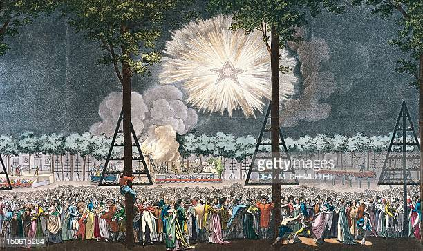 Celebrations along the Champs Elysee in Paris July 14 1801 France 19th century