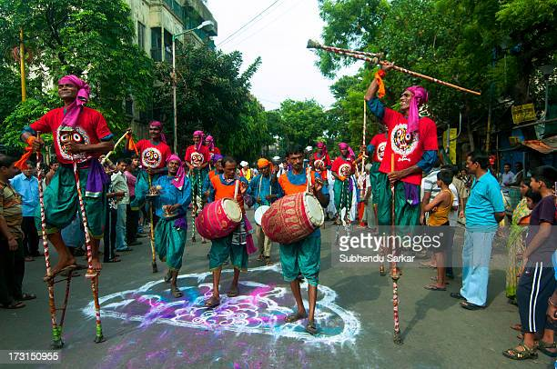 CONTENT] Celebrations during Ratha Yatra in Kolkata India