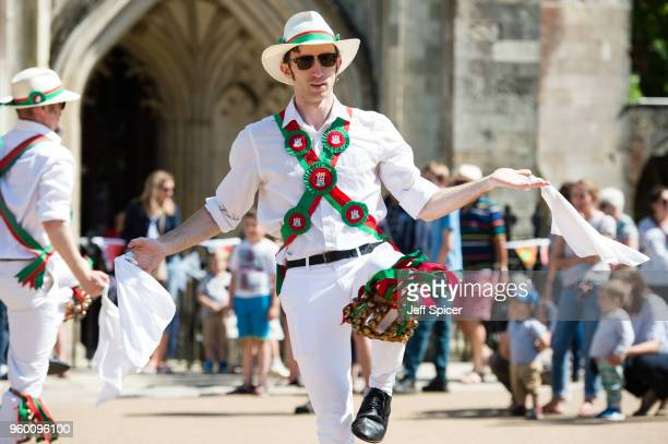 Celebrations following a live screening of the marriage ceremony of Prince Harry Duke of Sussex and Meghan Duchess of Sussex at Winchester Cathedral...