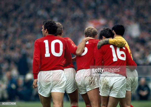 Celebrations for England after Martin Peters had scored their second goal during the FIFA World Cup Final between England and West Germany at Wembley...