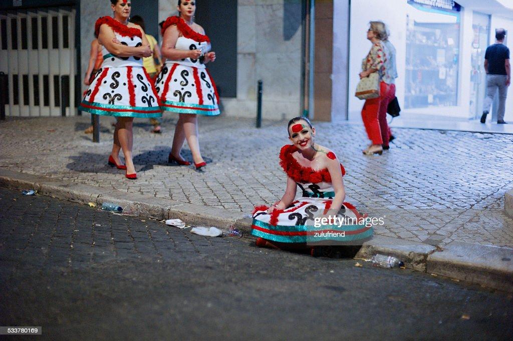 Celebrazioni di Lisbona : Foto stock
