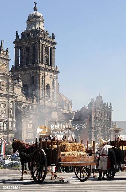 CONTENT] Celebrations to mark the anniversary of the start of the Mexican Revolution in front of Metropolitana Cathedral in Zócalo square the heart...