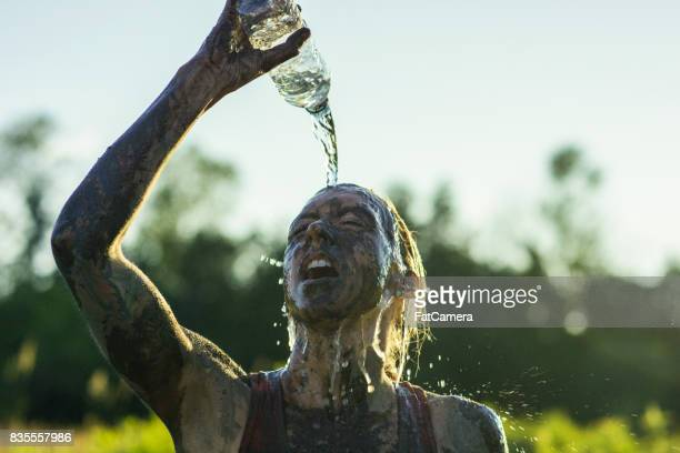 celebratory refreshment - obstacle course stock pictures, royalty-free photos & images