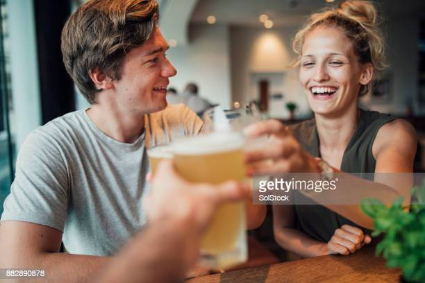 celebratory toast in australia - tourism stock pictures, royalty-free photos & images
