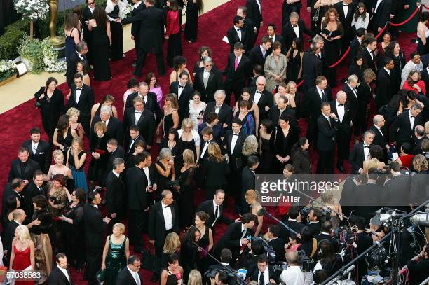 Celebrities and guests arrive at the 78th Annual Academy Awards at the Kodak Theatre March 5 2006 in Hollywood California