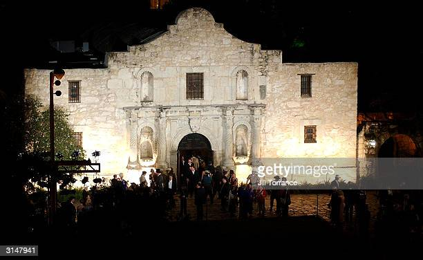 Celebrities and guests tour the Alamo March 27 2004 at the Disney Premiere After Party in San Antonio Texas