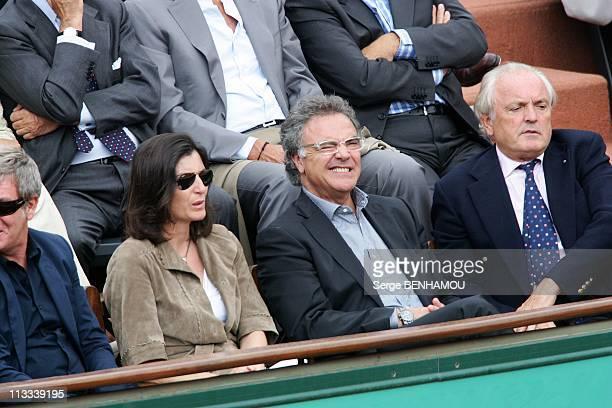 Celebrities At 2008 Roland Garros Tournament In Paris France On June 04 2008 Alain Afflelou and his friend