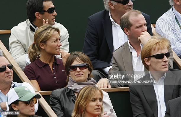 Celebrities at 2008 Roland Garros Tournament In Paris France On June 06 2008AnneSophie Lapix
