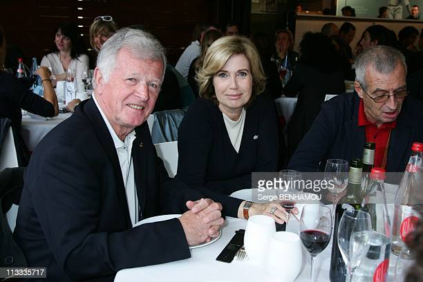 Celebrities At 2008 Roland Garros Tournament In Paris France On May 27 2008 Jean Louis Chretien and Catherine Alric