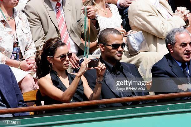 Celebrities At 2009 Roland Garros Tournament In Paris France On June 05 2009 Tony Parker and Eva Longoria