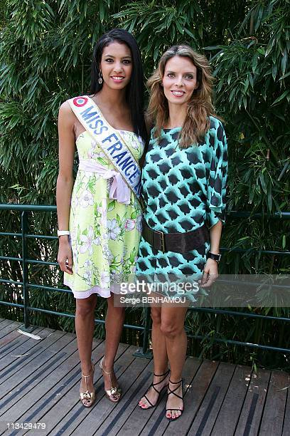 Celebrities At 2009 Roland Garros Tournament In Paris France On June 03 2009 Chloe Mortaud and Sylvie Tellier