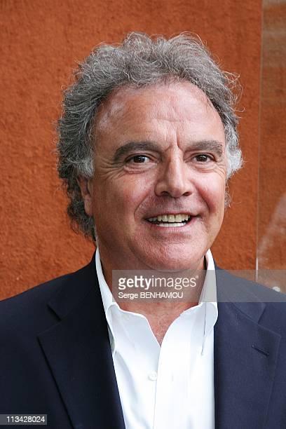 Celebrities At 2009 Roland Garros Tournament In Paris France On May 27 2009 Alain Afflelou