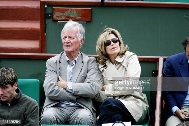 Celebrities At 2009 Roland Garros Tournament In Paris France On May 26 2009 JeanLoup Chretien and his wife Catherine Alric