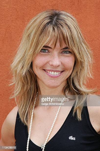 Celebrities At 2009 Roland Garros Tournament In Paris France On May 29 2009 Nathalie Vincent