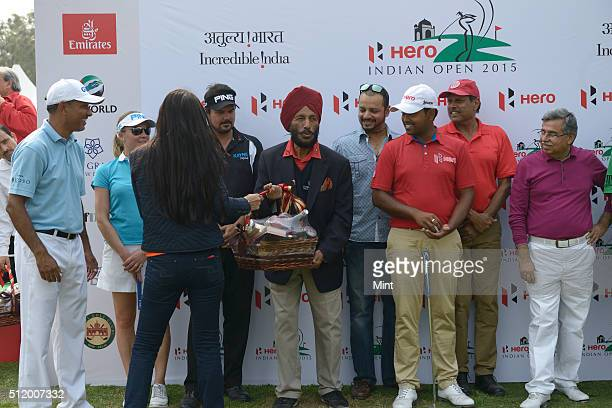 Celebrities at an event, Hero Indian Open 2015, in Delhi on February 18, 2015 in New Delhi, India.