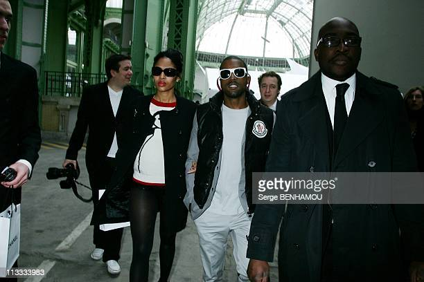 Celebrities At Chanel FallWinter 20082009 Ready To Wear Fashion Show In Paris France On February 29 2008 Kanye West and his wife