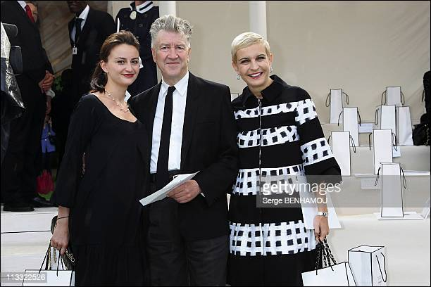 Celebrities At Chanel HauteCouture FallWinter 20072008 Fashion Show In Saint Cloud France On July 03 2007 David Lynch and his friend and Melita...