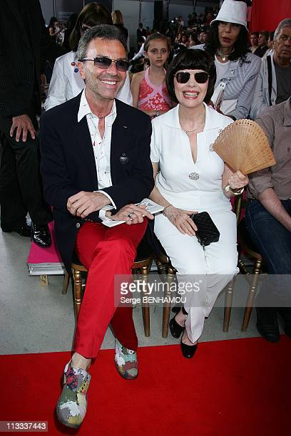Celebrities At Christian Lacroix FallWinter 20082009 HauteCouture Fashion Show In Paris France On July 01 2008 Olivier Echaudemaison and Mireille...