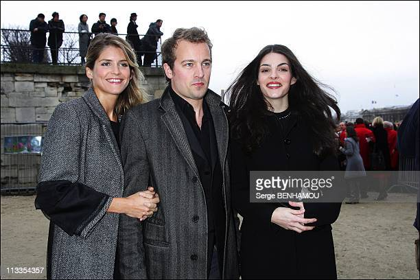 Celebrities At Dior FallWinter 2008 Ready To Wear Fashion Show In Paris France On February 27 2007 Alice Taglioni Jocelyn Quivrin Bojana Panic