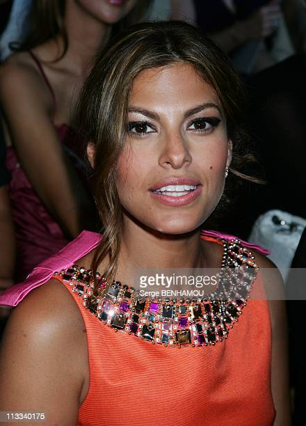 Celebrities At Dior FallWinter 20082009 HauteCouture Fashion Show In Paris France On June 30 2008 Eva Mendes