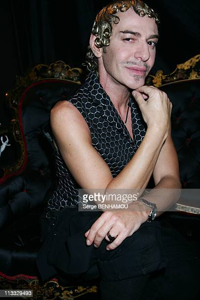 Celebrities At Dior Haute Couture SpringSummer 2008 Fashion Show In Paris France On January 21 2008 John Galliano