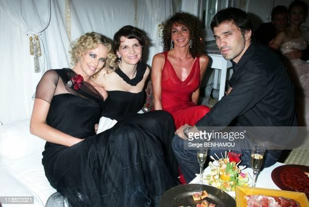 Celebrities At Dior HauteCouture FallWinter 20072008 Fashion Show At Orangerie In Versailles France On July 02 2007 Charlize Theron Juliette Binoche...