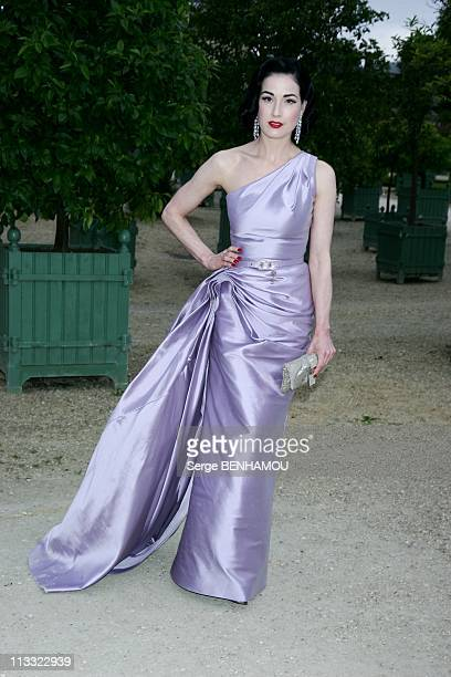 Celebrities At Dior HauteCouture FallWinter 20072008 Fashion Show At Orangerie In Versailles France On July 02 2007 Dita Von Teese