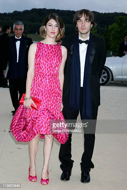 Celebrities At Dior HauteCouture FallWinter 20072008 Fashion Show At Orangerie In Versailles France On July 02 2007 Sofia Coppola and Thomas Mars...