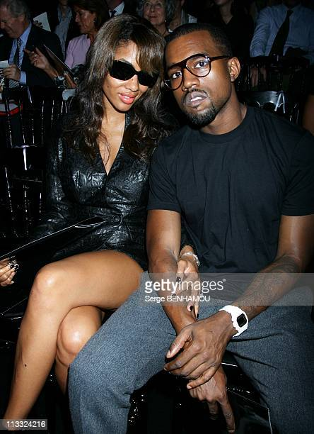 Celebrities At Dior Ready To Wear SpringSummer 2008 Fashion Show In Paris France On October 01 2007 Kanye West and his wife