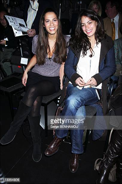 Celebrities At Elie Saab FallWinter 20072008 Ready To Wear Fashion Show In Paris France On March 04 2007 Elisa Tovati and Berenice Bejo