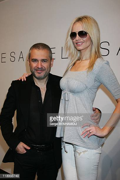 Celebrities At Elie Saab FallWinter 20082009 Ready To Wear Fashion Show In Paris France On March 01 2008 Elie Saab and Adriana Karembeu