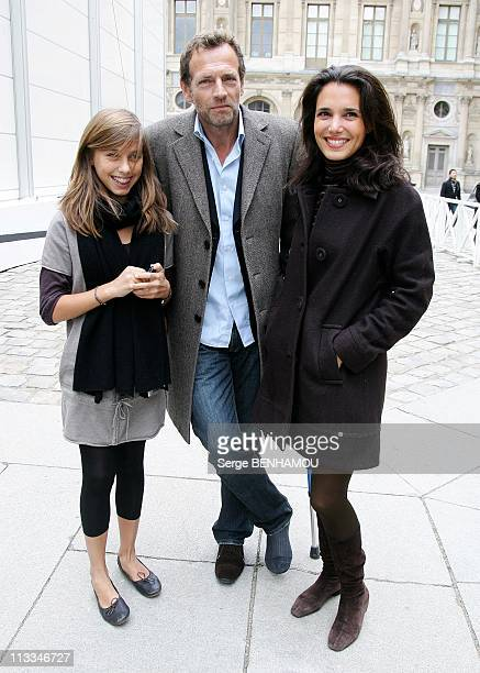 Celebrities At Louis Vuitton Ready To Wear SpringSummer 2009 Fashion Show In Paris France On October 05 2008 Stephane Freiss with his wife Ursula and...