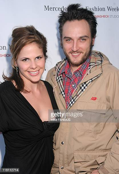Celebrities at MercedesBenz Fashion Week in Culver City United States on March 21 2006 Alex Quinn and guest at MercedesBenz Fashion Week at Smashbox...